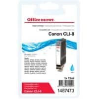 Office Depot Compatible Canon CLI-8C Ink Cartridge Cyan