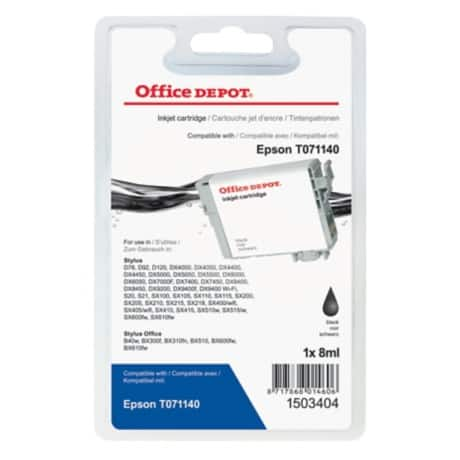Office Depot Compatible Epson T0711 Ink Cartridge t071140 Black