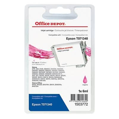 Office Depot Compatible Epson T0713 Ink Cartridge T071340 Magenta