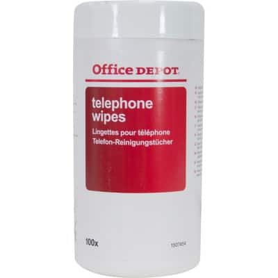 Office Depot Telephone Wipes White 100 Pieces