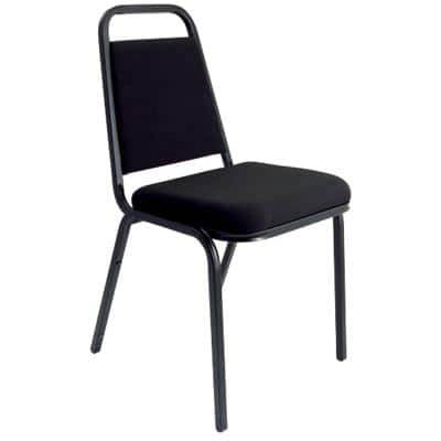 Dynamic Stacking Visitor Chair Black Pack of 4