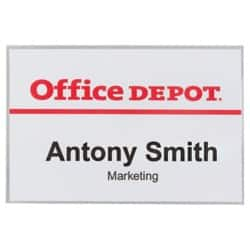 Office Depot Name Badges Clear 50 pieces