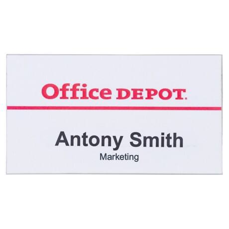 Office Depot Pin Badges 75 x 40 mm 50pk