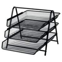 Office Depot Filing Shelves Black Wire Mesh 27 x 35.5 x 26.5 cm