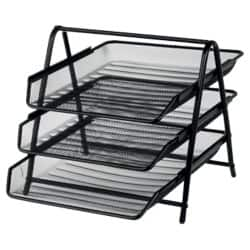 Office Depot Executive Mesh 3 Tier Letter Tray - Black