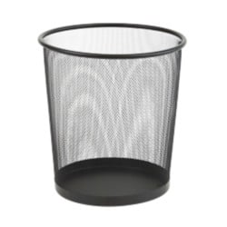 Office Depot Executive Mesh Waste Bin 15 litre capacity - Black