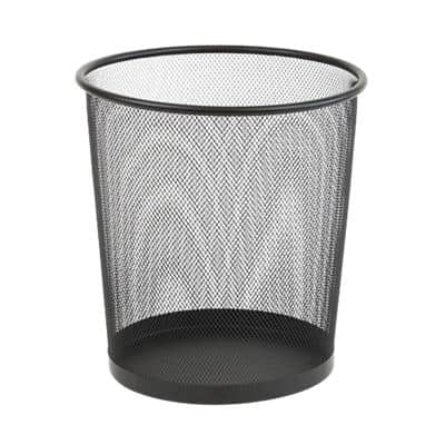 Office Depot Waste Bin Black 15 L Wire Mesh 26 x 26 x 28 cm