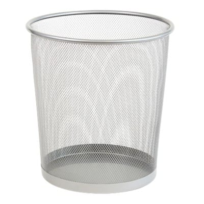 Office Depot Waste Bin Silver Wire Mesh 28 x 26 x 26 cm