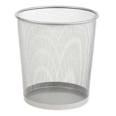 Office Depot Waste Bin Silver Wire Mesh 26 x 26 x 28 cm