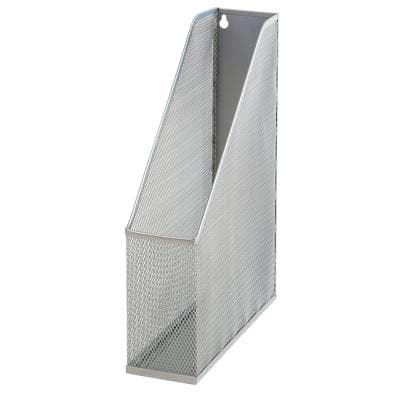 Office Depot Magazine File Silver 7.5 x 25.3 x 31.5 cm