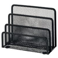 Office Depot Letter Sorter Wire, Mesh Black 17.5 x 8 x 13.5 cm