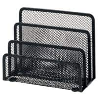 Office Depot Letter Sorter Wire Mesh Black 17.5 x 8 x 13.5 cm
