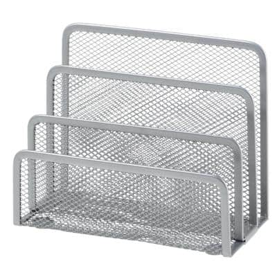 Office Depot Letter Sorter Wire, Mesh Silver 17.5 x 8 x 13.5 cm