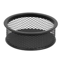 Office Depot Paper Clip Pot Wire Mesh Black 9 x 9 x 3.2 cm