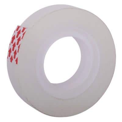 Niceday Tape BOPP (Biaxially-Oriented Polypropylene) 12 mm x 33 m Transparent Pack of 12