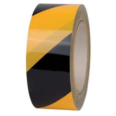 Office Depot Warning Tape 50 mm x 66 m Black - Yellow