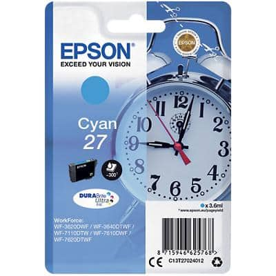 Epson 27 Original Ink Cartridge C13T27024012 Cyan