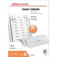 Office Depot Laser Labels Self Adhesive 64 x 33.9  mm White 2400 Labels