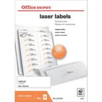Office Depot Laser Labels Self Adhesive 99.1 x 33.8 mm White 1600 Labels