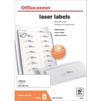 Office Depot Laser Labels Self Adhesive 99.1 x 38.1 mm White 1400 Labels