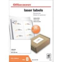 Office Depot Laser Labels Self Adhesive 99.1 x 67.7 mm White 800 Labels