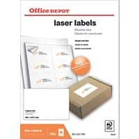 Office Depot Laser Labels White 800 labels per pack