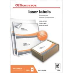 Office Depot Laser Labels White 200 labels per pack
