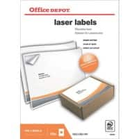 Office Depot Laser Labels Self Adhesive 199.6 x 289.1 mm White 100 Labels