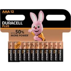 Duracell Battery Plus Power AAA 12 pieces