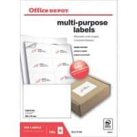 Office Depot Multipurpose Labels Square Corners White 800 labels per pack