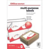 Office Depot Multipurpose Labels A6 White 105 x 148 mm 100 Sheets of 4 Labels