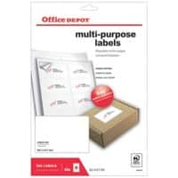 Office Depot 1668258 Multipurpose Labels Special format White 99.1 x 67.7 mm 40 Sheets of 8 Labels