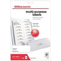 Office Depot Multifunction Labels Self Adhesive 99.1 x 38.1 mm White 40 Sheets of 14 Labels