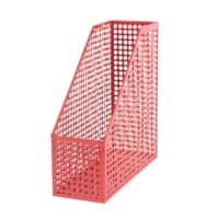 Foray Magazine File Red Plastic 9.5 x 25 x 26 cm