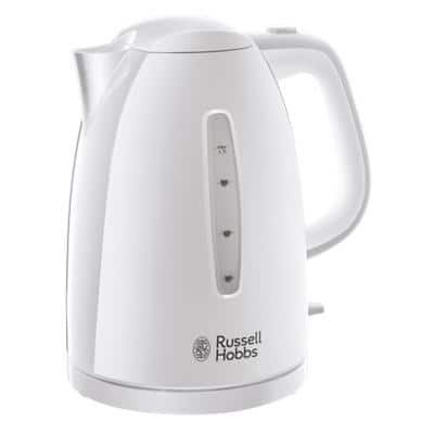 Russell Hobbs Jug Kettle 1.7L Plastic White 360 Degree Base 3000W
