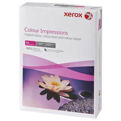 Xerox Colour Impressions Laser Paper A4 120gsm White 500 Sheets