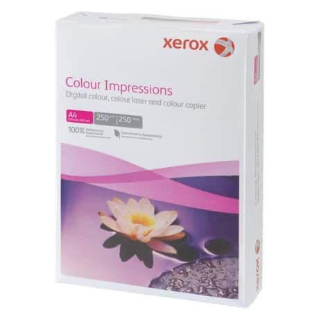 Xerox Impressions A4 250gsm multifunctional printer card – white (250 sheets)
