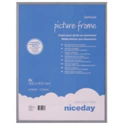 Niceday Aluminium Frame Grey 400 H x 300 W mm 2 Per Pack