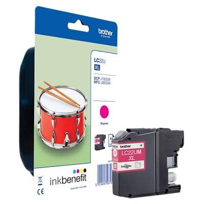 Brother Original Ink Cartridge LC-221M Magenta
