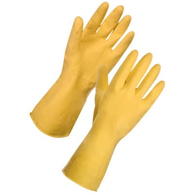 Supertouch Gloves 13341 Rubber Size S Yellow 12 Pieces