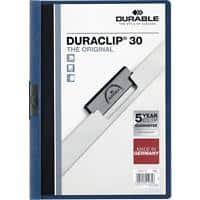 DURABLE Duraclip Clip Files A4 30 sheets 3 mm Blue