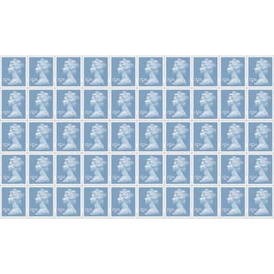Royal Mail £5.00 Postage Stamps 50 Pieces
