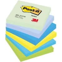 Post-it Sticky Notes 76 x 76 mm Assorted 6 Pieces of 100 Sheets