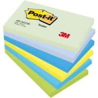 Post-it Sticky Notes 127 x 76 mm Assorted 6 Pieces of 100 Sheets
