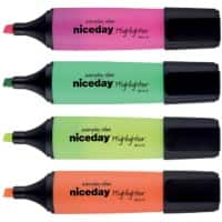 Niceday Highlighter HC1-5 Assorted Pack 4