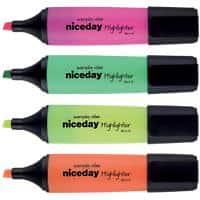 Niceday Highlighter HC1-5 Assorted Pack of 4