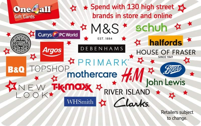 One4all Gift Card Spend Here £25