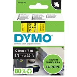 DYMO Labelling Tape 40918 9 mm x 7 m black / yellow