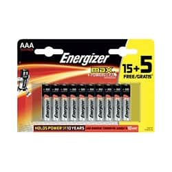 Energizer Batteries Max AAA 20 batteries