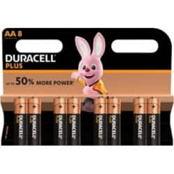 Duracell Battery Plus Power AA 8 pieces